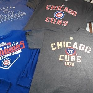 4 Chicago Cubs Shirts Sz. 3 Lg and 1 Med